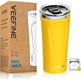 VeeFine Tumbler 20oz 18/8 Stainless Steel Tumbler with Lid Dishwasher Safe Vacuum Insulated Tumblers BPA Free Keep Hot Cold S