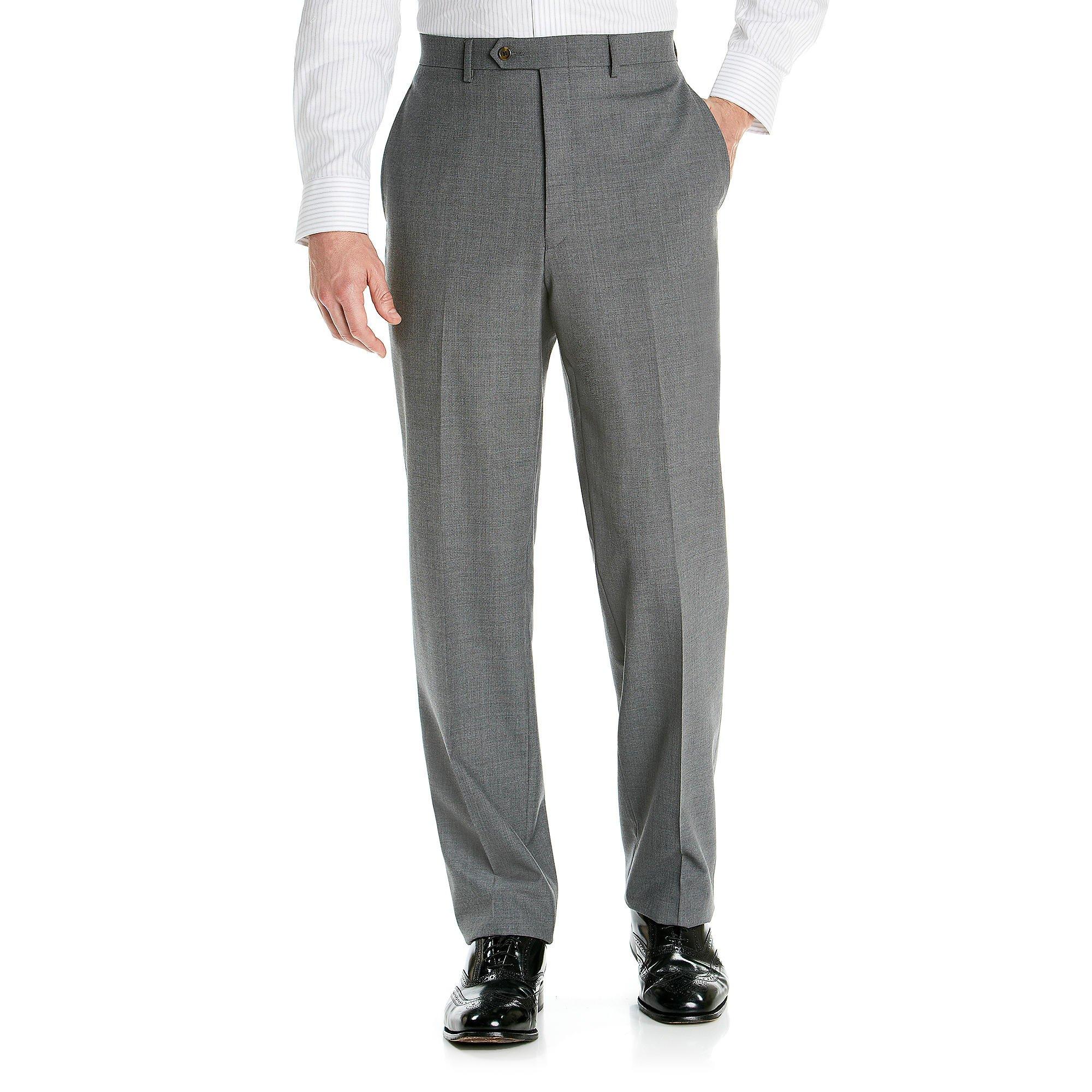 Lauren Ralph Lauren Men's Flat Front Total Comfort Slim Fit Pants (32x32, Black)