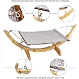Cat Bed Hammock Style by Pet Magasin - Pet Lounge Perch for Small, Medium, Large Cats & Small Dogs & Other Small Animals - Strong and Sturdy with Easy Installation
