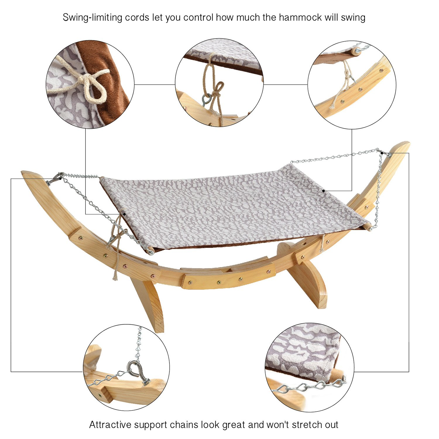 Pet Magasin Luxury Cat Hanging Bed – Heavy Duty Hammock Style Pet Perch with Simple Installation for Cats, Small Dogs & Other Animals by