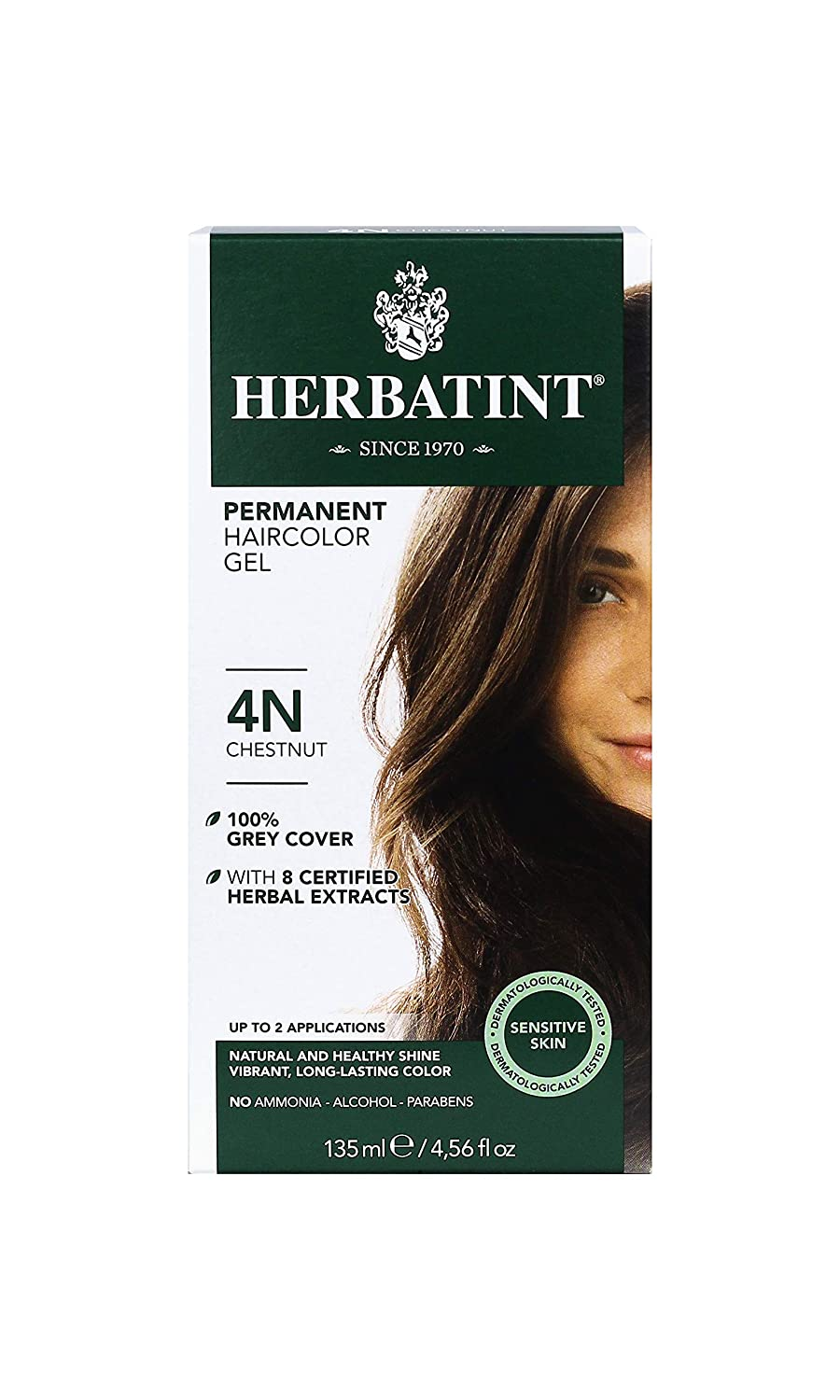 Herbatint Permanent Herbal Haircolor Gel, Chestnut, 4.56 Ounce