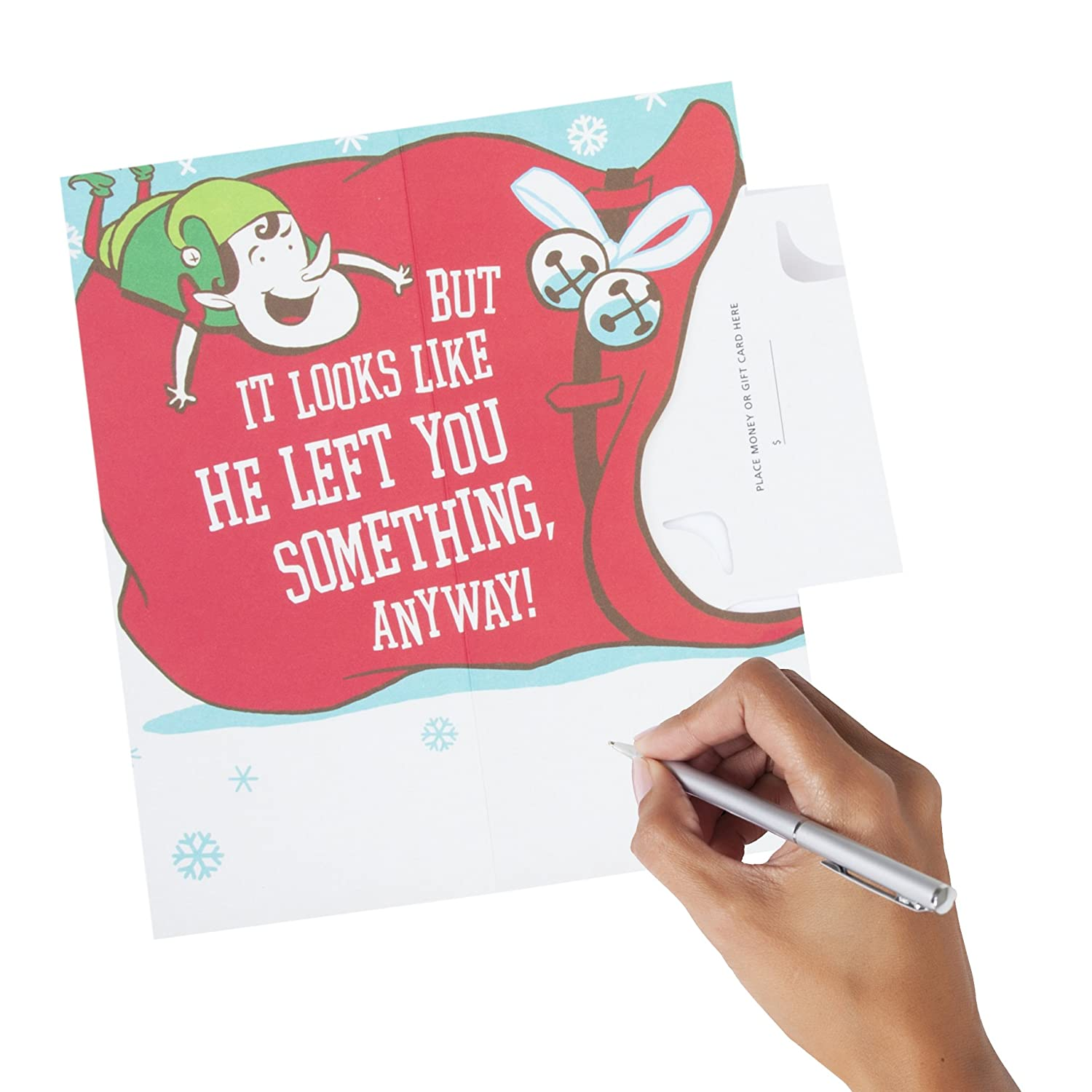 Amazon Hallmark Funny Pop Up Christmas Money or Gift Card