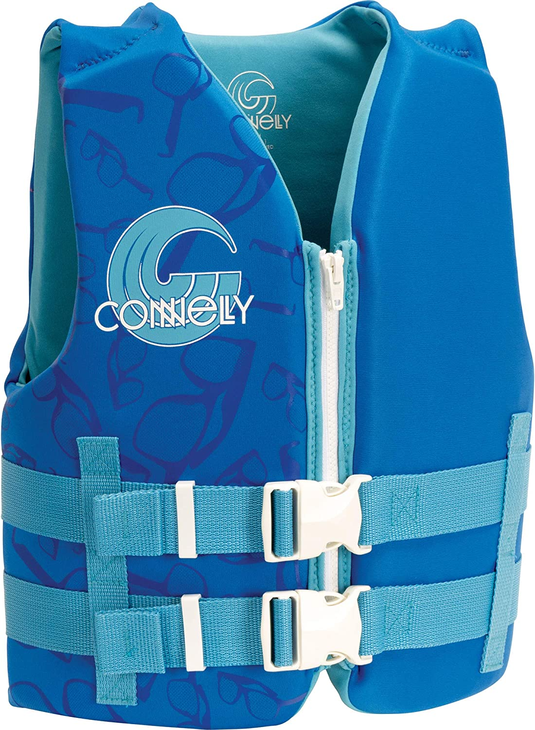 CWB Connelly Youth Boy's Promo Neo Vest - Coast Guard Approved, Blue