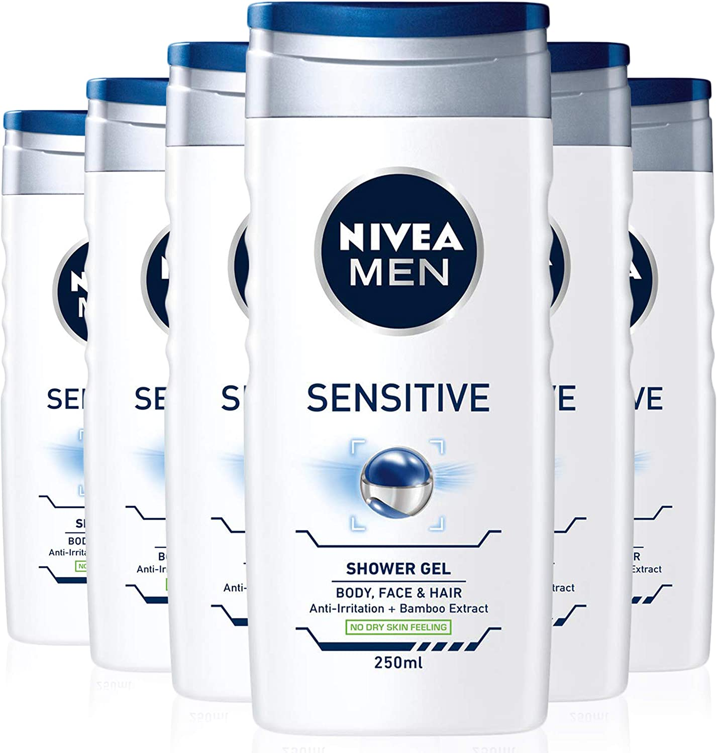 NIVEA MEN Sensitive Shower Gel Pack of 6 – Only £6!