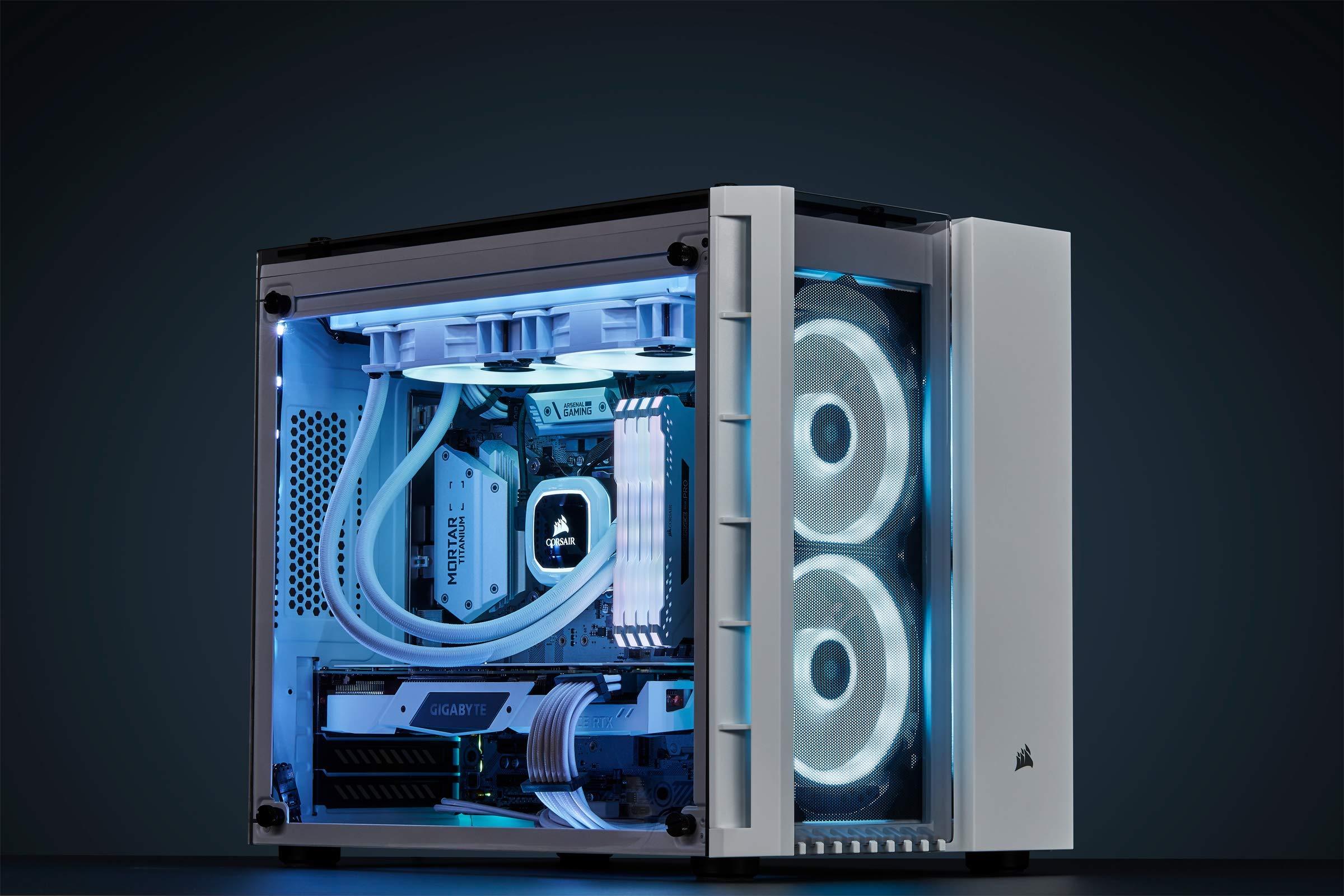 CORSAIR LL Series, LL120 RGB, 120mm RGB LED Fan, Triple Pack with Lighting Node PRO- White by Corsair (Image #5)