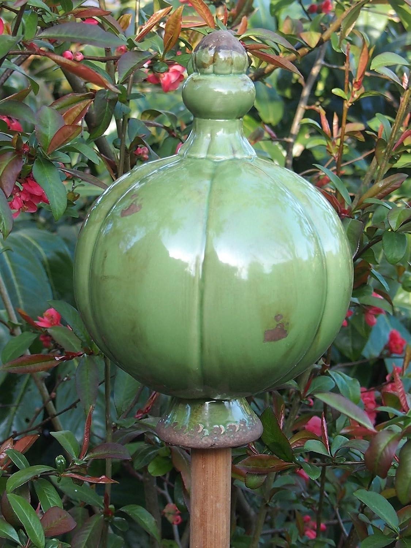 Edle gro/ße Landhausstil Rosenkugel,Beetkugel,Gartenkugel,Dekokugel,/Ø 16 cm Gr/ün