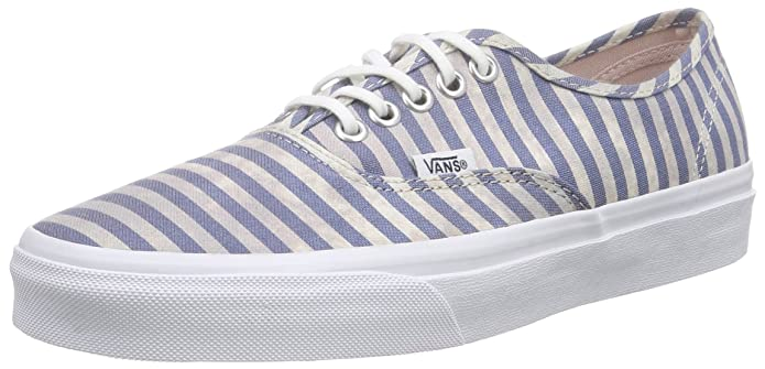 Vans Unisex-Erwachsene Authentic Low-top Weiß Blau gestreift