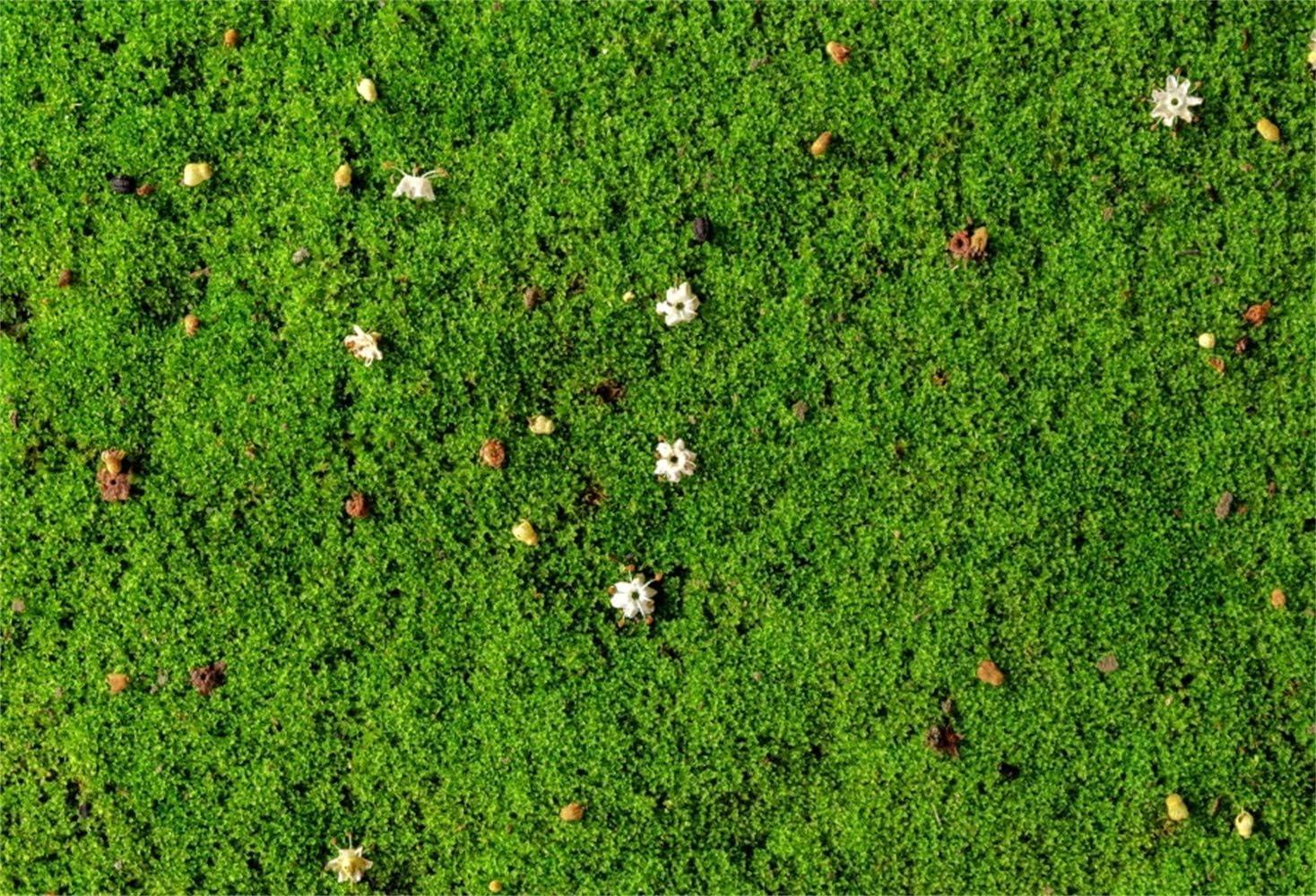 8x6.5ft Spring Scattered Wild Flowers On Green Grassland Polyester Photography Background Child Adult Portrait Backdrop Spring Scenic Landscape Wallpaper Studio Props