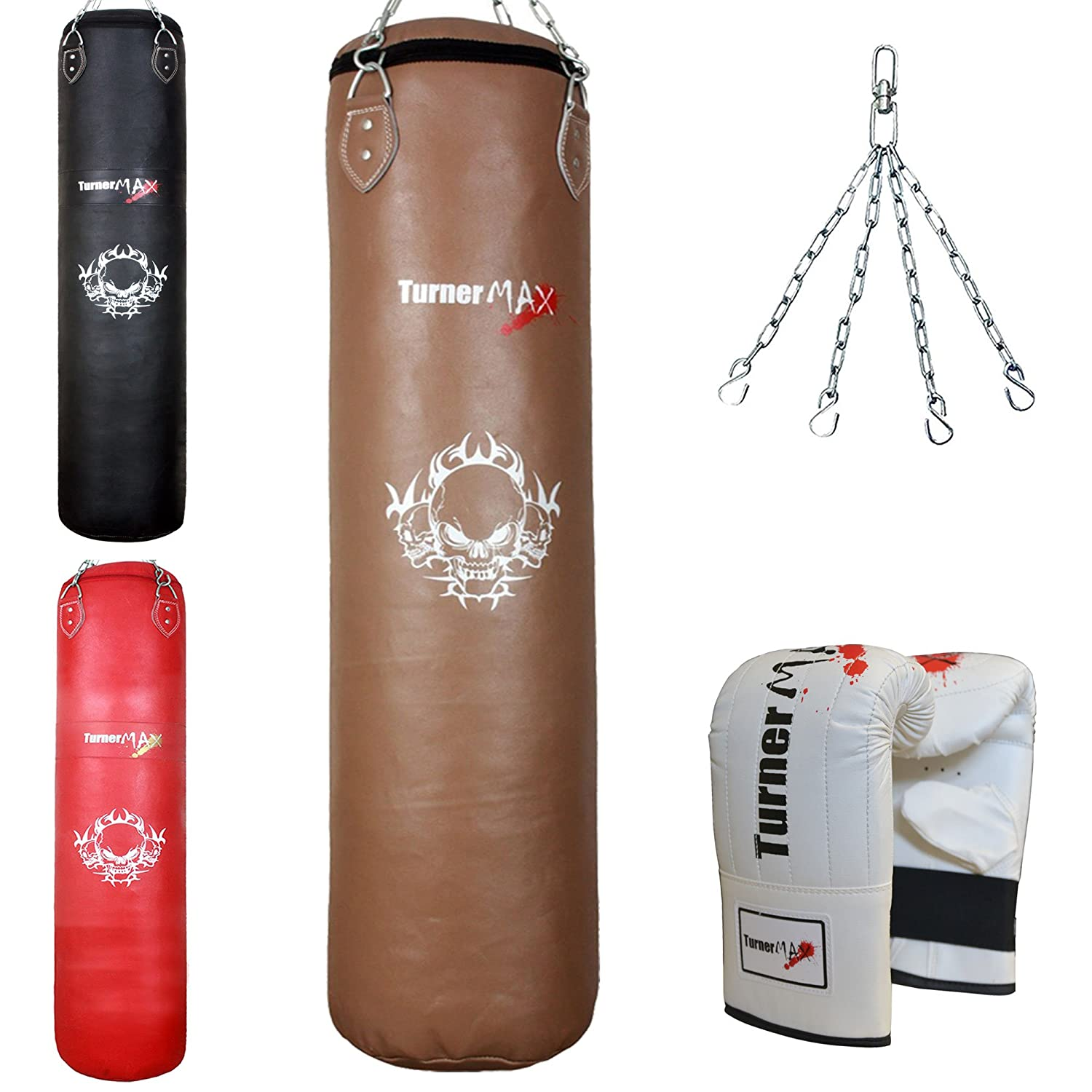 TurnerMAX Genuine Cowhide Leather Punch Bag