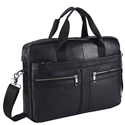 77f54bdc21c Image Unavailable. Image not available for. Color  Mens Vintage Genuine Leather  Handmade Laptop Briefcase Work Bag Messenger ...