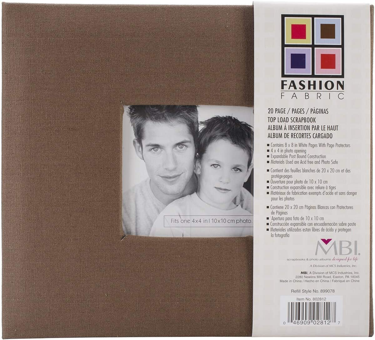 Top-Loading 6pk MBI 8x8 Inch Page Protectors 899078