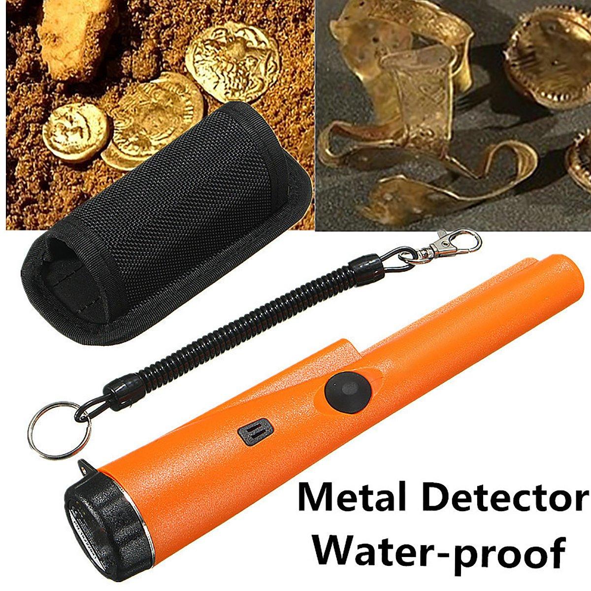 Detector de Metales Portátil GOCHANGE Alarma de Luz Resistente Al Agua Detección