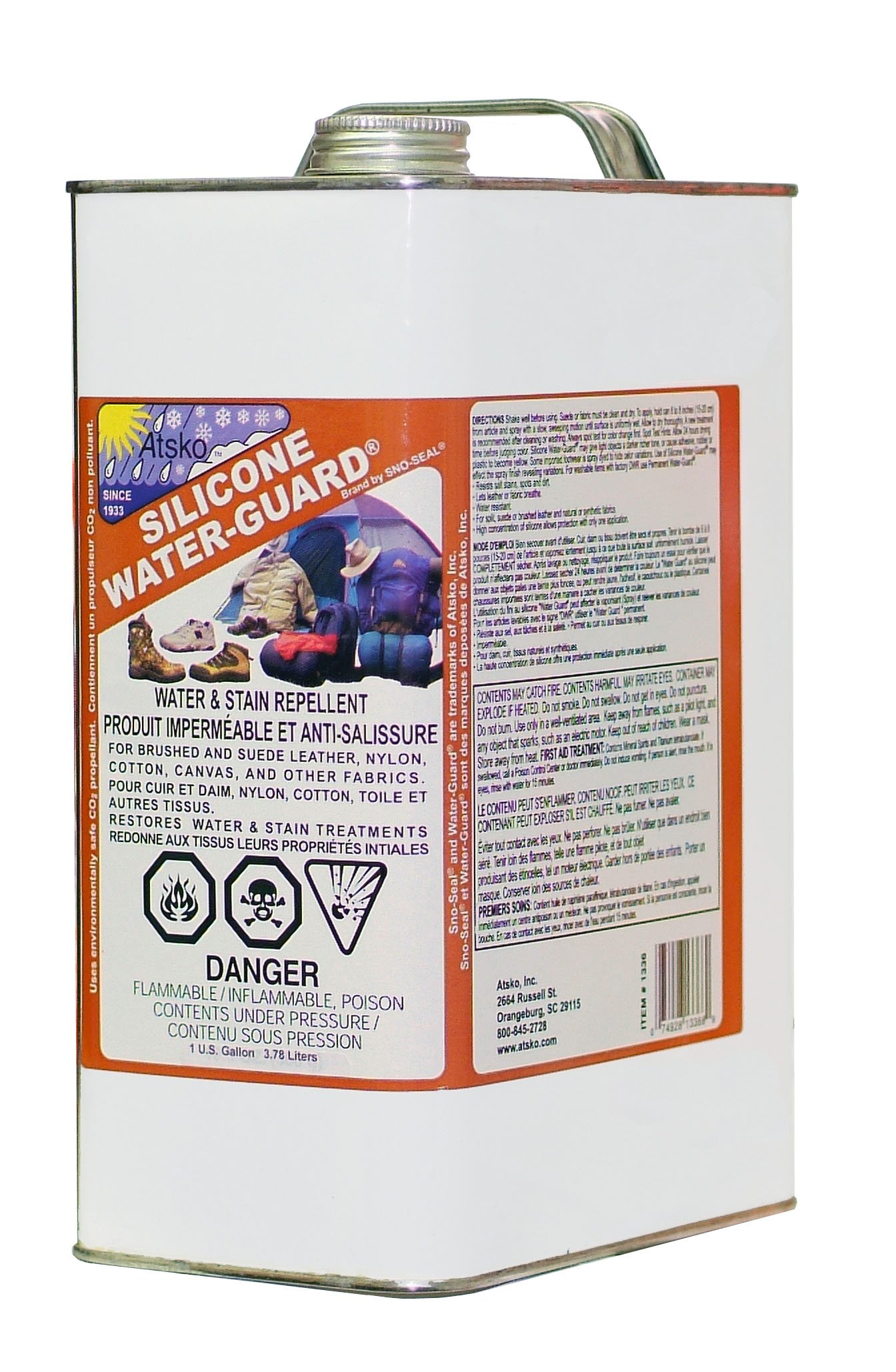 Atsko Sno-Seal Silicone Water Repellent-Guard (1-Gallon)