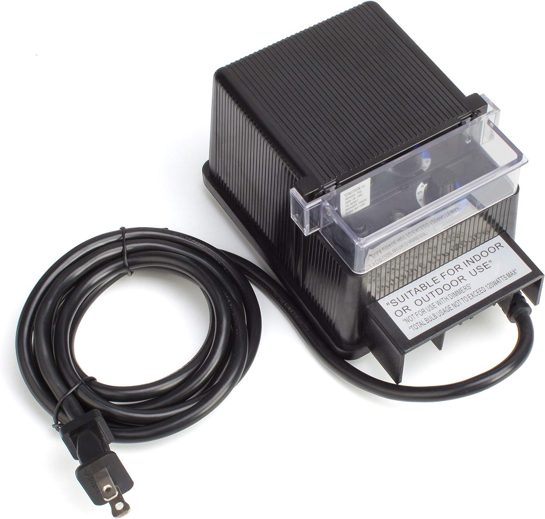 Metal Landscape Transformer Low-Voltage Remote Photocell Outdoor Lighting 600-W