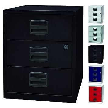 PFA mesa auxiliar | Portátil de oficina con los cajones de un armario con ruedas y 3 cajones de metal - | 5 coloures: Amazon.es: Hogar