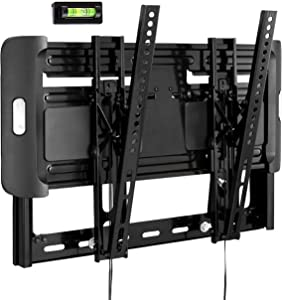 Universal Adjustable TV Wall Mount - Slim Quick Install VESA Mounting Bracket for TV Monitor, Mounts 32 to 47 Inch HDTV, LED, LCD, Plasma, Flat, Ultrawide Smart Television Up to 55 LB - Pyle PSW691MT1