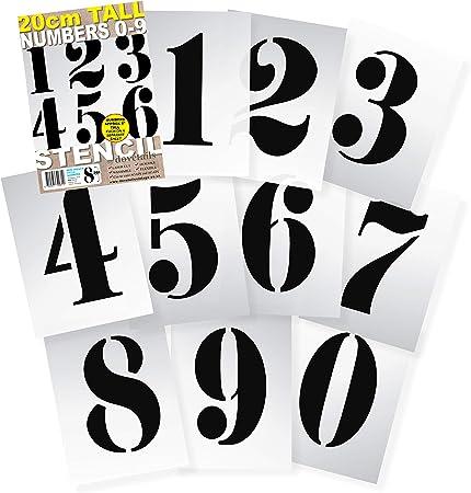 0-9 Reusable Stencils by SmartSign 7 x 10 Plastic Number Set