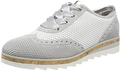 Damen 23707 Brogues, Weiß (White Comb), 41 EU Marco Tozzi