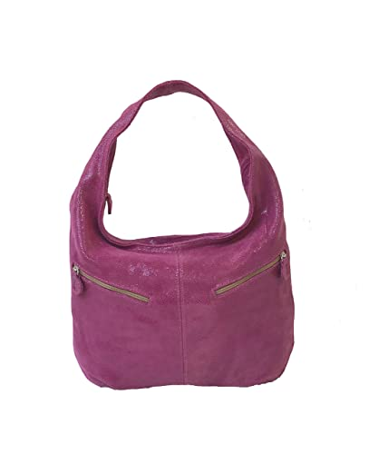 6e3d00f5c538 Amazon.com: Fgalaze Slouchy Hobo Bag, Pink Suede Leather Purse with ...