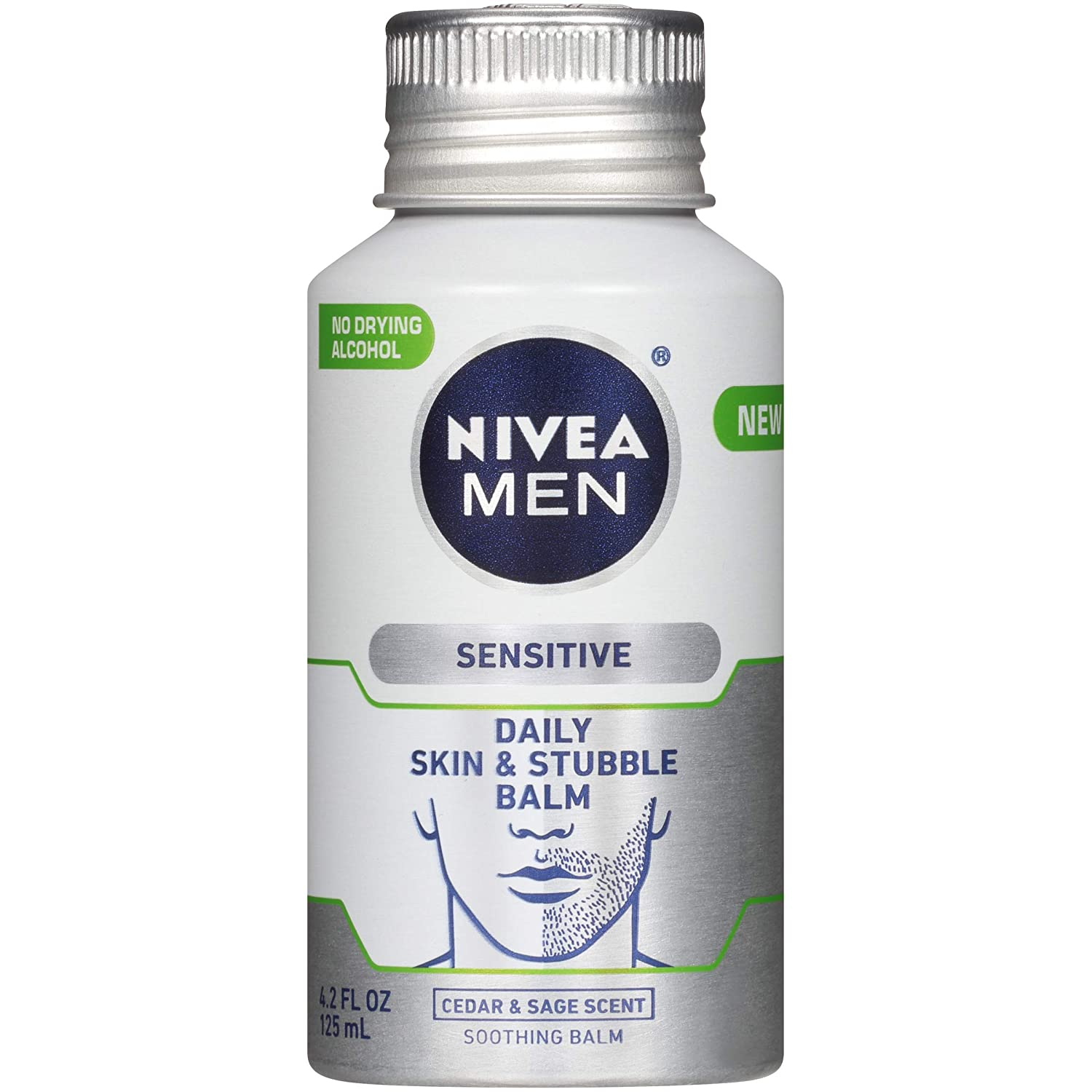 NIVEA Men Sensitive Skin & Stubble Balm - Mens Face Lotion for Before and After Shave – 4.2 Fl. Oz. Bottle