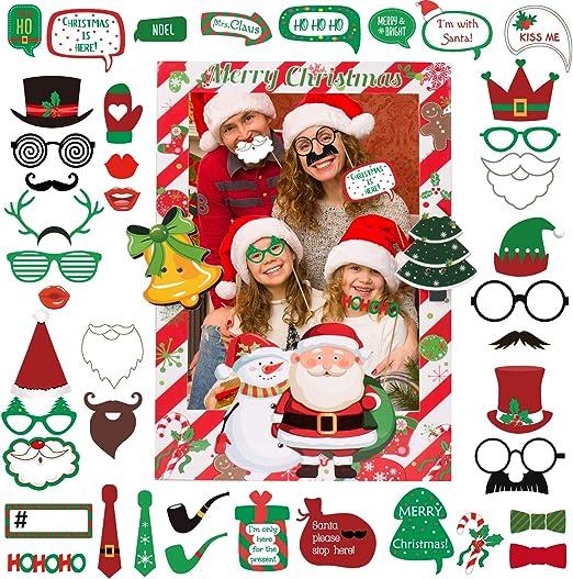 Joyjoz Navidad Photocall con marco de fotos, Selfie Photocall ...