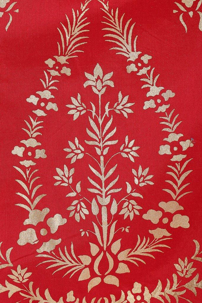 BIBA Women's Anarkali Cotton Silk Suit Set 34 Red by Biba (Image #4)
