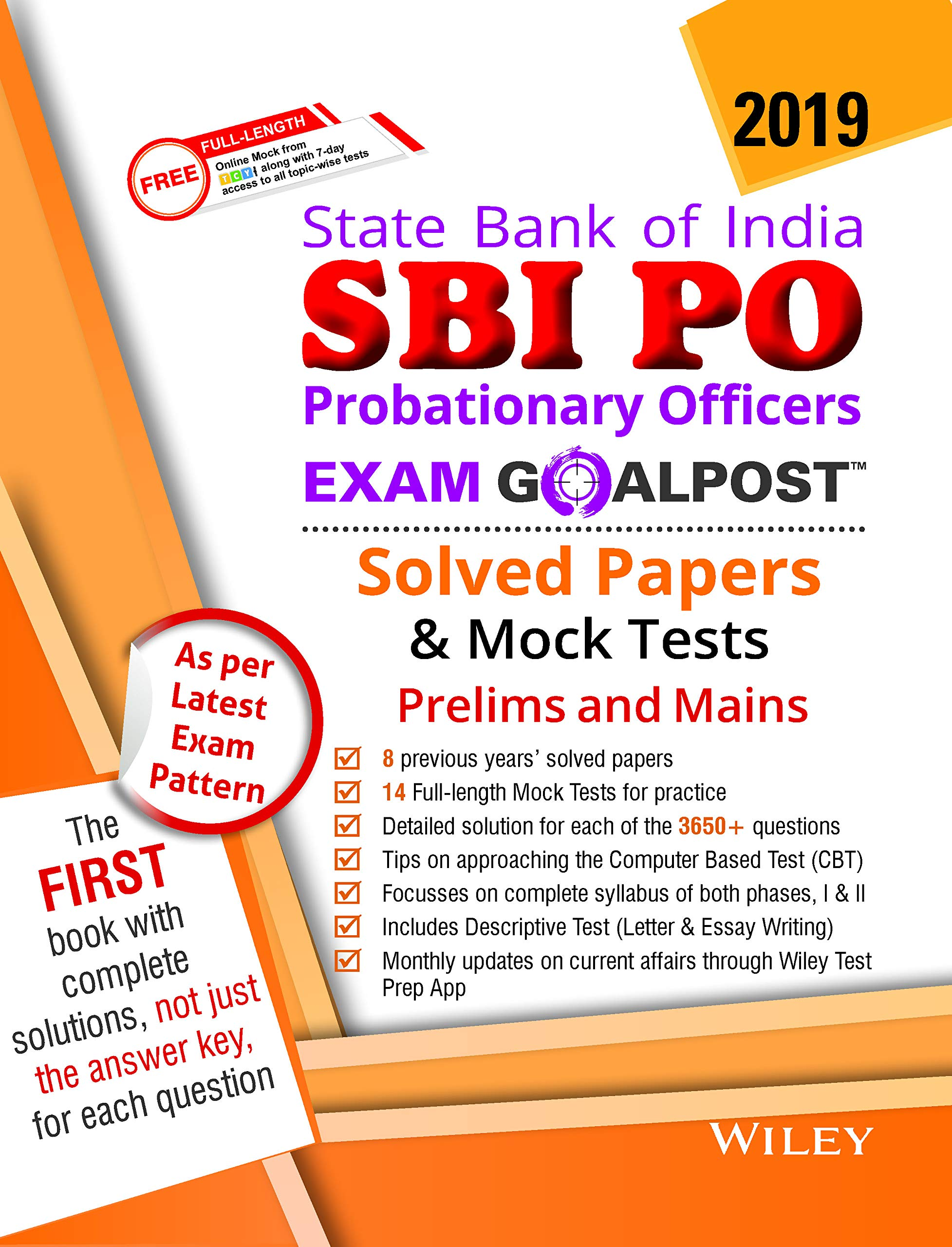 Buy Wiley's State Bank of India Probationary Officers (SBI