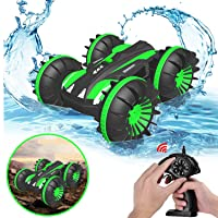 Pussan Gifts for 6-10 Year Old Boys Amphibious Remote Control Car for Kids 2.4 GHz...