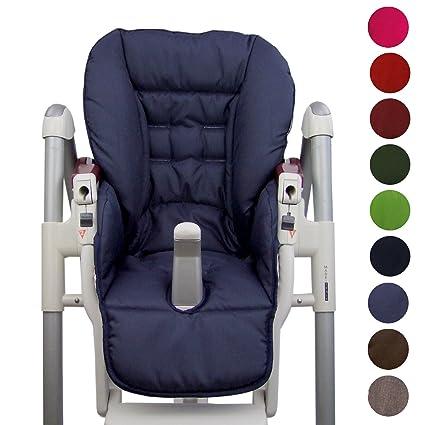 BambiniWelt Cojín de asiento, funda de repuesto para trona Peg Perego Prima Pappa Diner, 9 colores marine