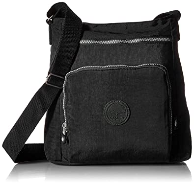 6d598337479 Image Unavailable. Image not available for. Color  Oakarbo Nylon Crossbody  Purse Multi-Pocket Travel Shoulder Bag (1301 Black)