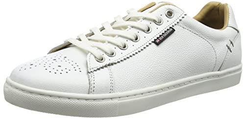 Ben Sherman Men's Tredegar Trainers, Off-White (Cow Milled Off White),