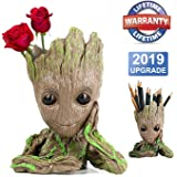 Homened Baby Groot Blumentopf Figur - Übertopf Groß Aquarium Deko Figur Holz Aschenbecher Stiftehalter