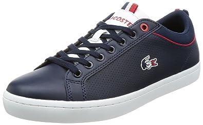 003 Nvy Straightset Sport Lacoste Pour Homme 34cam0064 Chaussures De DI29EH
