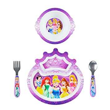 The First Years Disney Princess 4-Piece Feeding Set  sc 1 st  Amazon.com & Amazon.com : The First Years Disney Princess 4-Piece Feeding Set ...