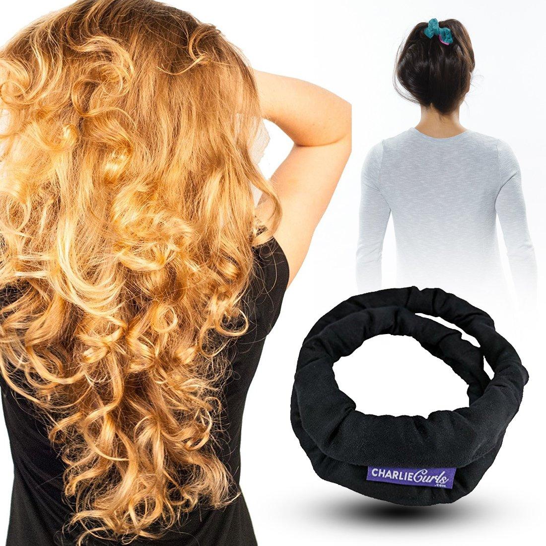 CharlieCurls: No Heat, On The Go Hair Curler (Black) 2018