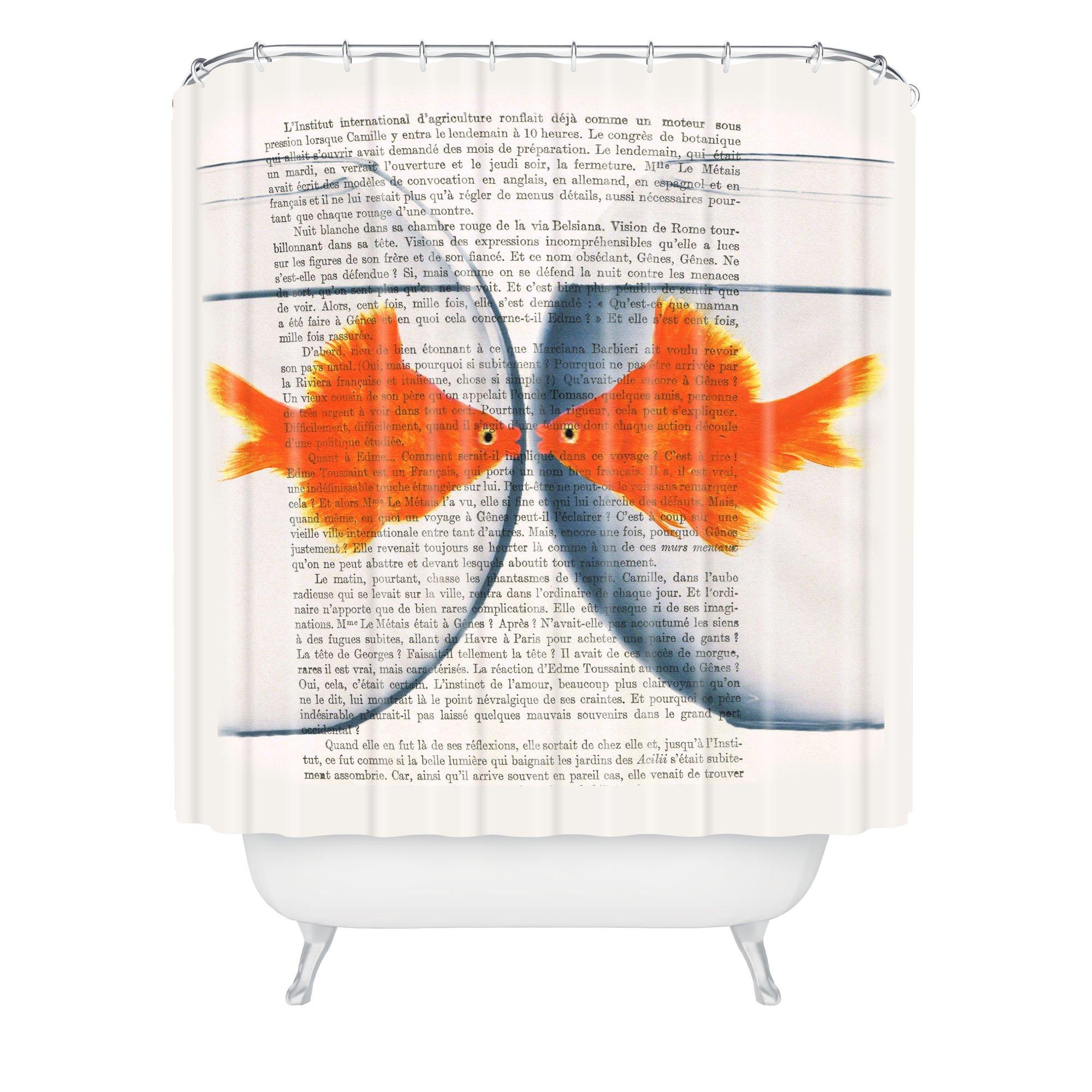 Deny Designs Coco De Paris Goldfish Love Shower Curtain, 69'' x 90''