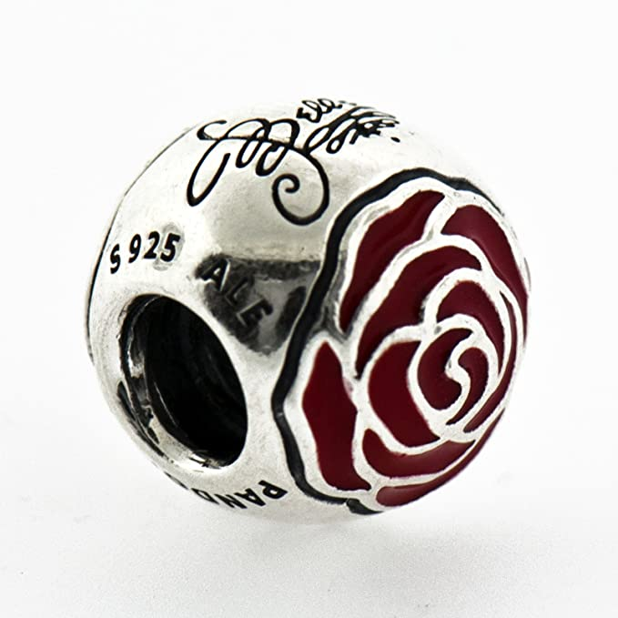 Pandora 791575EN09 Charm Disney, Belle's Enchanted Rose with Red ...