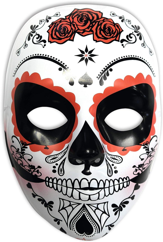 Rubies- Mascara calavera Katrina con rosas Día de los Muertos ...