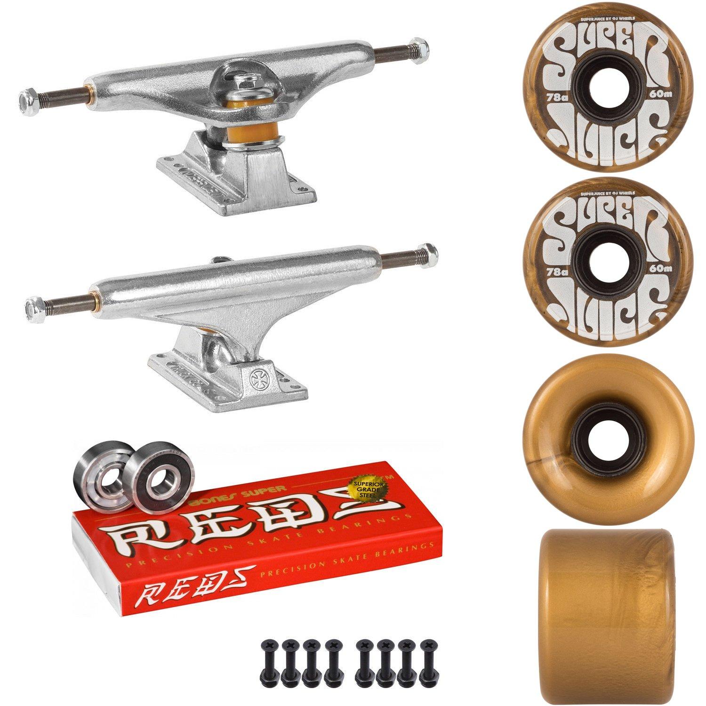 スケートボードキットIndy 169 Trucks OJスーパージュース60 mm 78 aホイールゴールドSuper Reds   B07DQVY2F4