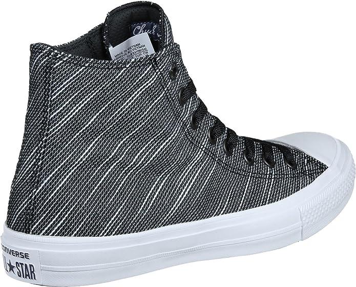 7869cec8e31 ... closeout amazon converse chuck taylor all star ii hi black white navy  textile athletic shoes size