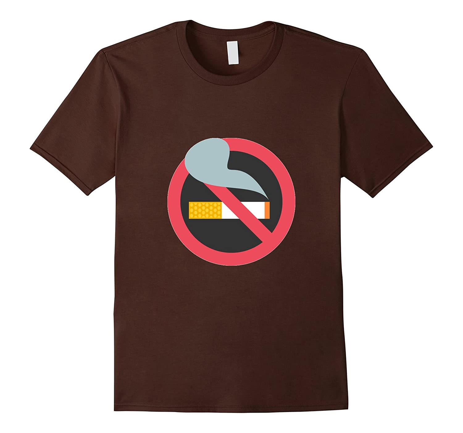 No Smoking Sign Emoji T-Shirt Cigarette Permitted Prohibited-CL