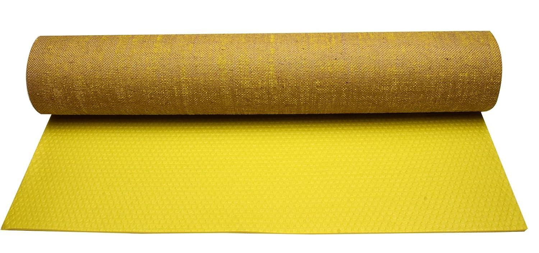 Avento esterilla de yoga eco-yute amarillo fluorescente 41WD ...