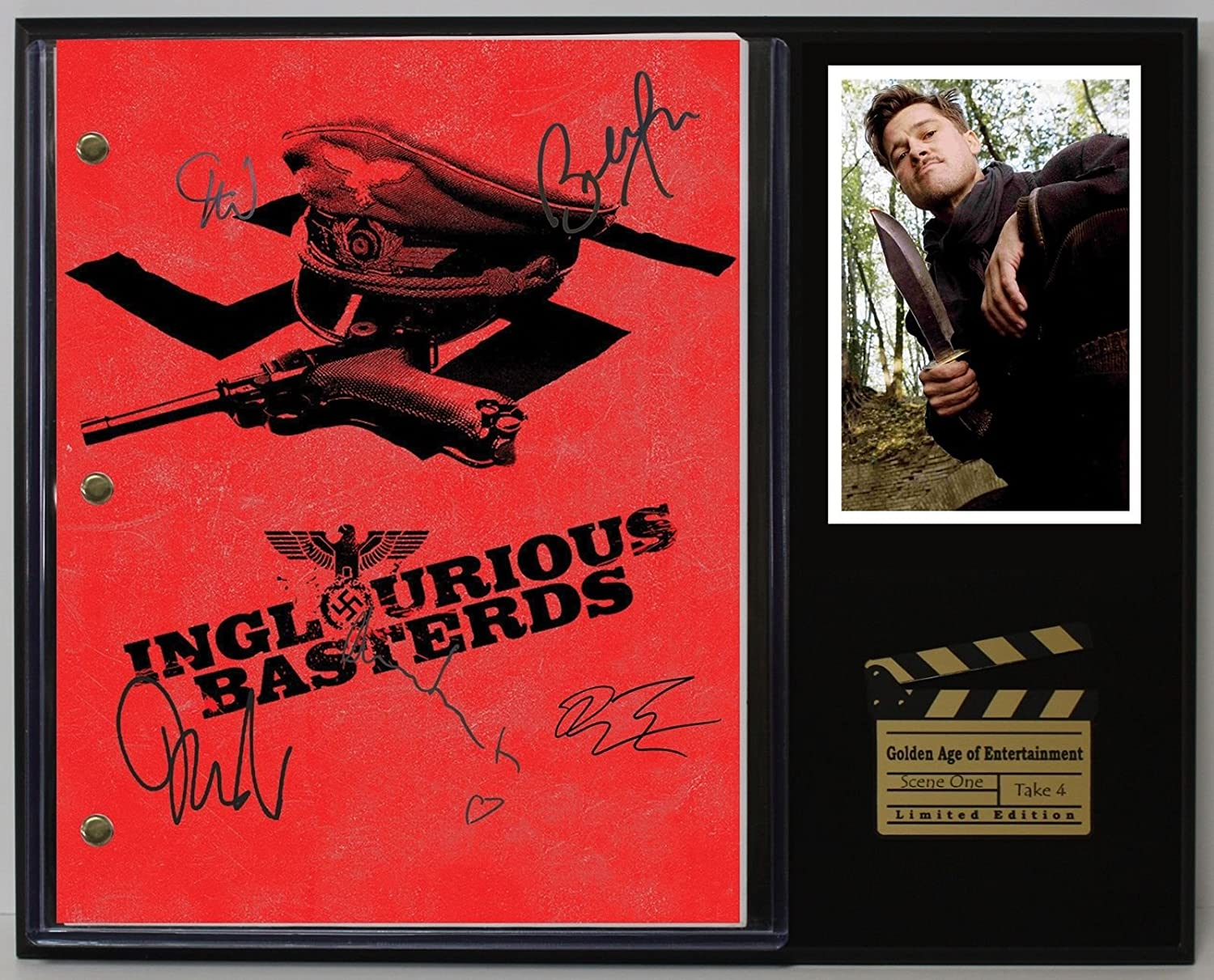 Inglorious Basterds Ltd Edition Reproduction Movie Script Cinema Display C3