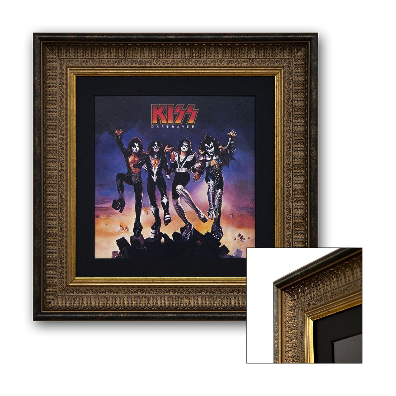 "LP Cover Rahmen ""Ace  - Vinyl Plattencover - Wechselrahmen - Schallplattenrahmen - LP Rahmen - mit echtem Passepartout - inklusive Echtglas Scheibe - für LP Cover bis 31,5x31,5cm"