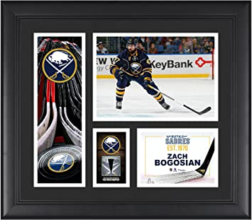 c3c9f3b81 Zach Bogosian Buffalo Sabres Framed 15 quot  x 17 quot  Player Collage with  a Piece of