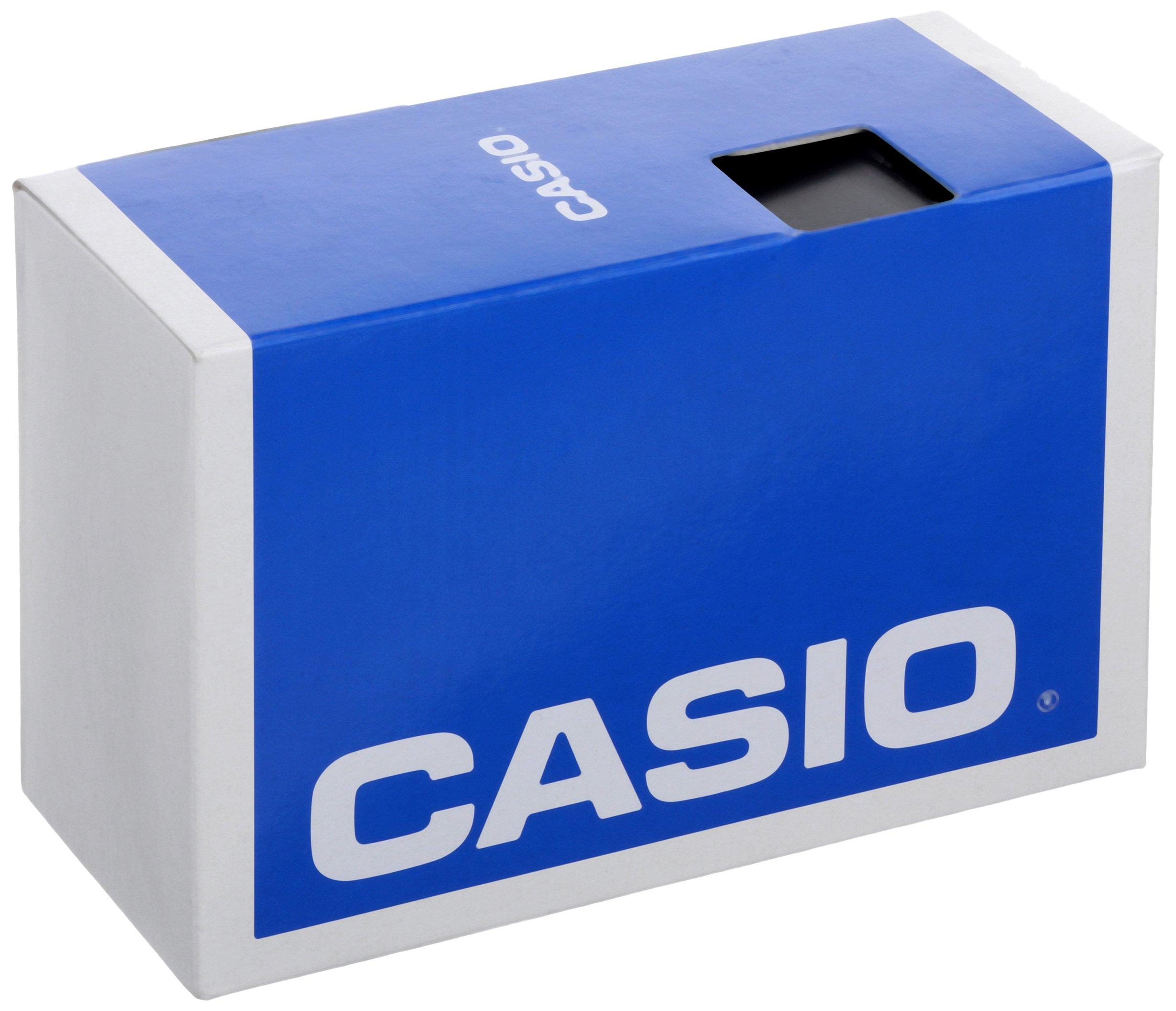 Best fitness trackers Casio Men's Step Tracker Quartz Sport Watch with Resin Strap, Blue, 19.4 (Model: