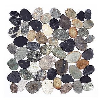 K 1 567   1m² U003d 11 Fliesen Kieselstein Mosaikfliesen Geschnitten Naturstein  Lager Verkauf
