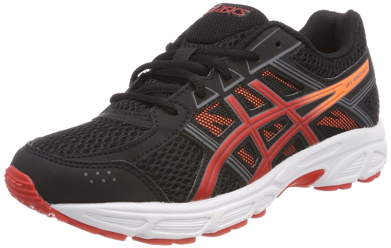 Noir (noir Fiery rouge Shocking Orange 9023) ASICS Gel-Contend 4 GS, Chaussures de Running Compétition Mixte Enfant 33 EU