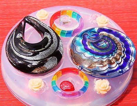 multi-clear-silicone Anillo Colgantes moldes, anillo tamaño 8. 9. colgantes