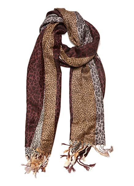 4a420417b Women's Shawl Natural Hues Double Layer Reversible Paisley Fringe Pashmina  Shawls and Wraps for Women at Amazon Women's Clothing store: